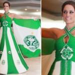 O preço de cada vestido de noiva de time é R$ 24 mil. (Foto:Divulgação)