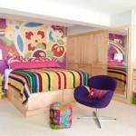 O colorido reina na decoração do quarto jovem. (Foto:Divulgação)