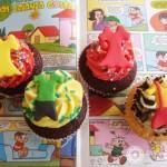 Cupcakes da Turma da Mônica. (Foto:Divulgação)