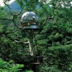 Casa da árvore em formato de nave espacial (Foto: Divulgação)