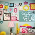Parede personalizada para o quarto da adolescente. (Foto:Divulgação)