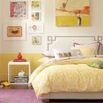 O amarelo é uma das cores que se destaca no quarto. (Foto:Divulgação)