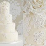 O bolo rendado tem um acabamento delicado e elegante. (Foto:Divulgação)