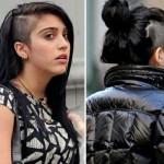 Até a filha da Madonna adotou o cabelo raspado na lateral. (Foto:Divulgação)