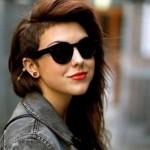 O cabelo raspado na lateral é um corte para garotas com atitude. (Foto:Divulgação)