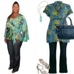 As blusas estampadas devem ser usadas com calças de cores neutras, com as pretas (Foto: divulgação).