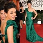 A atriz Mila Kunis apostou em um lindo modelo de vestido sereia (Foto: divulgação).
