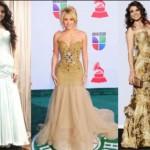 As estampas e cores neutras também são opções para os vestidos sereia (Foto: divulgação).