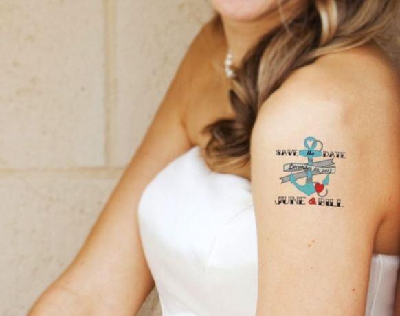 Modelo de tatuagem temporária. (Foto Ilustrativa)