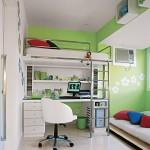 A cama suspensa deixa o quarto com mais espaço e moderno (Foto: Divulgação)