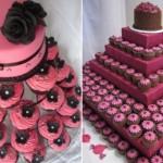 Torres de cupcakes para aniversário de 15 anos. (Foto:Divulgação)