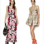 A estampa floral se ajusta tanto ao vestido curto como ao longo. (Foto:Divulgação)