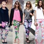 Modelos de calças estampadas com flores e multicoloridas. (Foto:Divulgação)