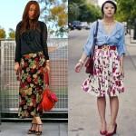 A saia longa estampada também é uma opção para o look. (Foto:Divulgação)