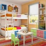 Quarto divertido e colorido para duas crianças.  (Foto:Divulgação)