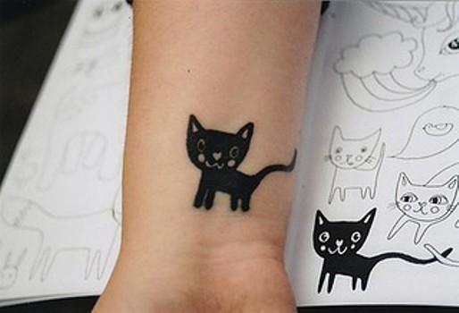 Tatuagem fofa de gatinho. (Foto:Divulgação)