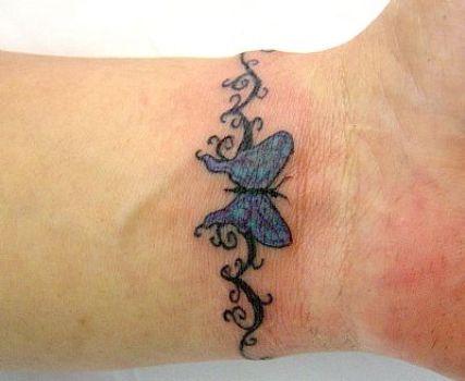 Tatuagem de borboleta no pulso. (Foto:Divulgação)