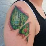 Tatuagem para quem gosta de robôs. (Foto:Divulgação)