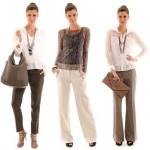 Os blusas mais leves são as mais indicadas para usar com calça risca de giz (Foto: divulgação).