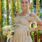 Vestido de noiva rendado e delicado. (Foto:Divulgação)