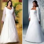 Vestido de noiva mais pesado e com volume. (Foto:Divulgação)