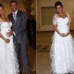 Luciele di Camargo se casou grávida. (Foto:Divulgação)