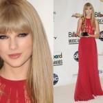 O vestido de Taylor Swift tem detalhes em renda. (Foto:Divulgação)