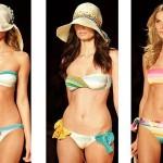 Os biquínis mais larguinhos e coloridos  estão na moda 2012 (Foto: divulgação).