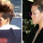 Rihanna com o cabelo curtinho e laterais raspadas. (Foto:Divulgação)