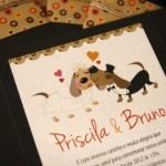 Cachorrinhos foram usados para ilustrar o convite. (Foto:Divulgação)