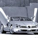 Mercedes com porta do tipo asas de gaivota (Foto: Divulgação)