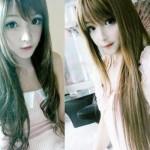 Garota chinesa ganhou fama na internet por causa do seu rosto de boneca. (Foto:Divulgação)