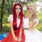 Anastasiya Shpagina e Valeria Lukyanova juntas. (Foto:Divulgação)