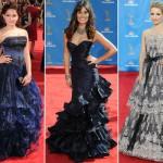 As famosas são adeptas aos vestidos longos com babados. (Foto: divulgação)