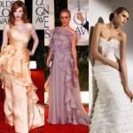 Os babados podem aparecem em vários modelos de vestidos longos.  (Foto: divulgação)