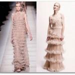 Vários modelos de babados podem ser encontrados em vestidos longos.  (Foto: divulgação)