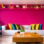 As decorações coloridas são ótimas opções para sala de visitas. (Foto: divulgação)