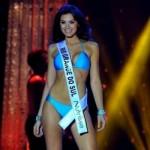 Miss Brasil desfilando de biquíni. (Foto:Divulgação)