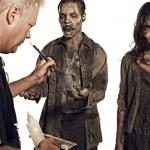 Maquiagem dos zumbis da terceira temporada.