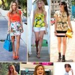 As blusas e saias com estampas tropicais são muito versáteis e bonitas. (Foto: divulgação)