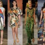 Os vestidos, macacões e saias podem ser usados com estampas tropicais. (Foto: divulgação)