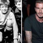 David Beckham já era um grande jogador na infância. (Foto:Divulgação)