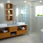 Os tijolos de vidro são compatíveis com as áreas de umidade. (Foto:Divulgação)