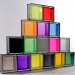 Tijolos de vidro coloridos. (Foto:Divulgação)
