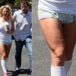 Britney Spears com celulite nas coxas. (Foto:Divulgação)