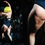 Lady Gaga teve suas celulites flagradas em show. (Foto:Divulgação)