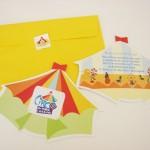 Convites para a festa com tema circo. (Foto:Divulgação)