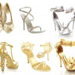 Os sapatos metalizados combinam com vários trajes de festa. (Foto: divulgação)