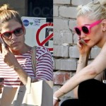 As famosas adoram usar óculos de sol com armação colorida. (Foto:Divulgação)