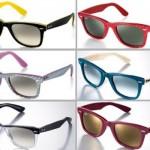 Diferentes modelos de óculos de sol de armação colorida. (Foto:Divulgação)
